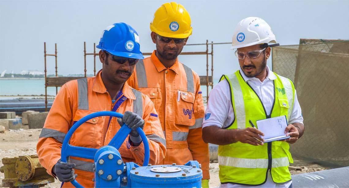 Man operating WJ Groundwater equipment