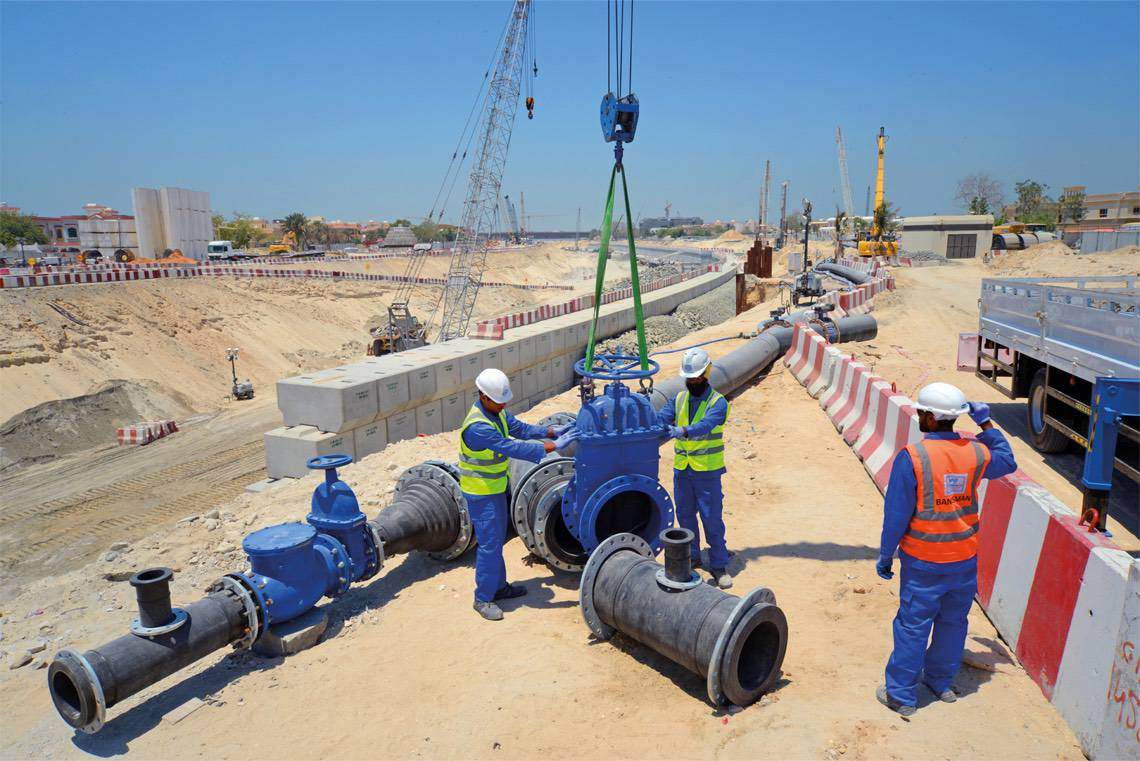 WJ Qatar installing HDPE Pipeline